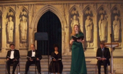 A performance of Keith Hearne's Requiem. (Anne-Marie Czajkowski singing)