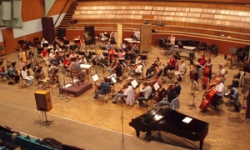 Rehearsals for the recording of 'Princess of the People'